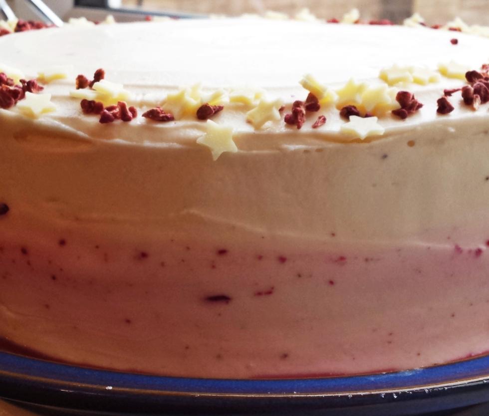 chocolate cherry birthday cake