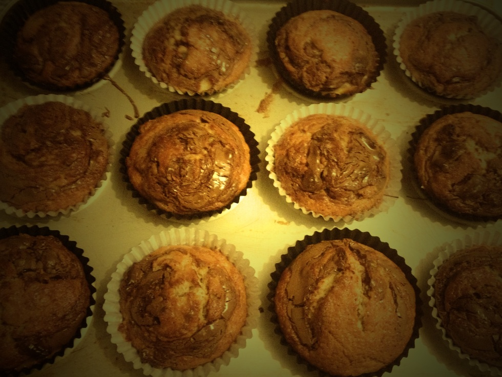 Banana Swirl Muffins