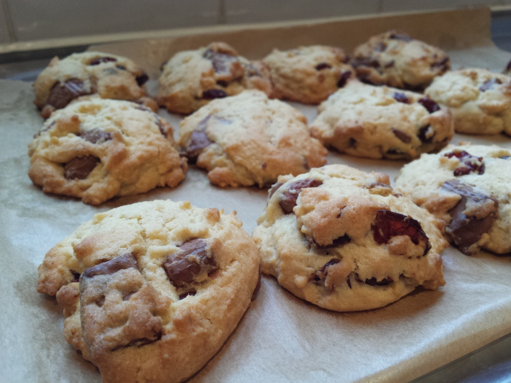milk choc cranberry cookie