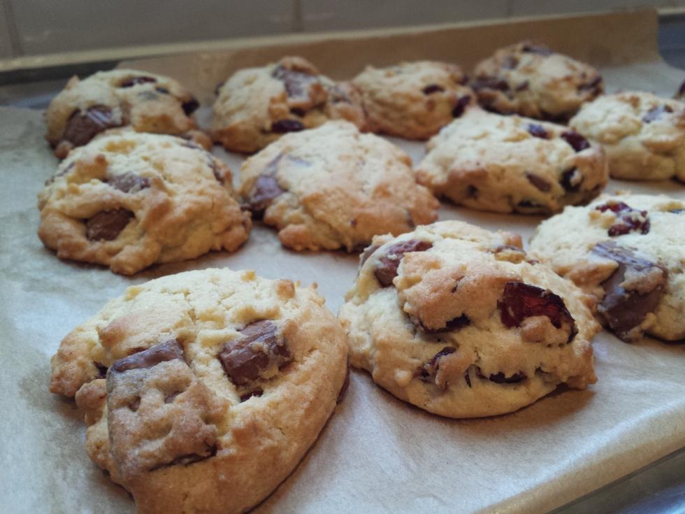 milk choc cranberry cookie