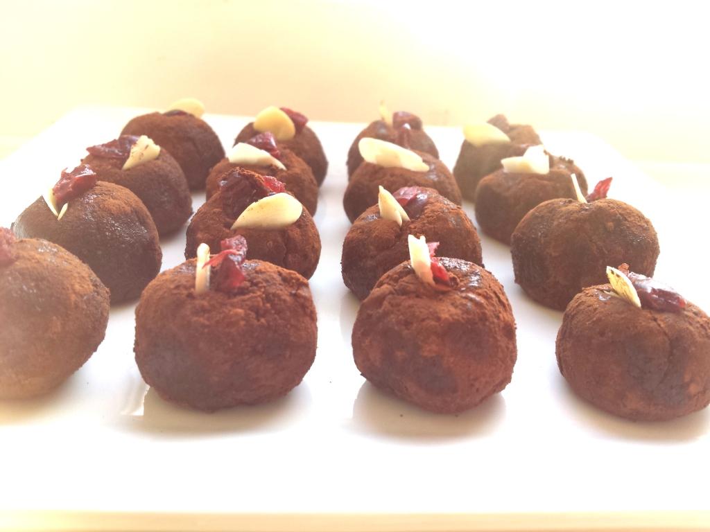 amaretto and black pepper truffle