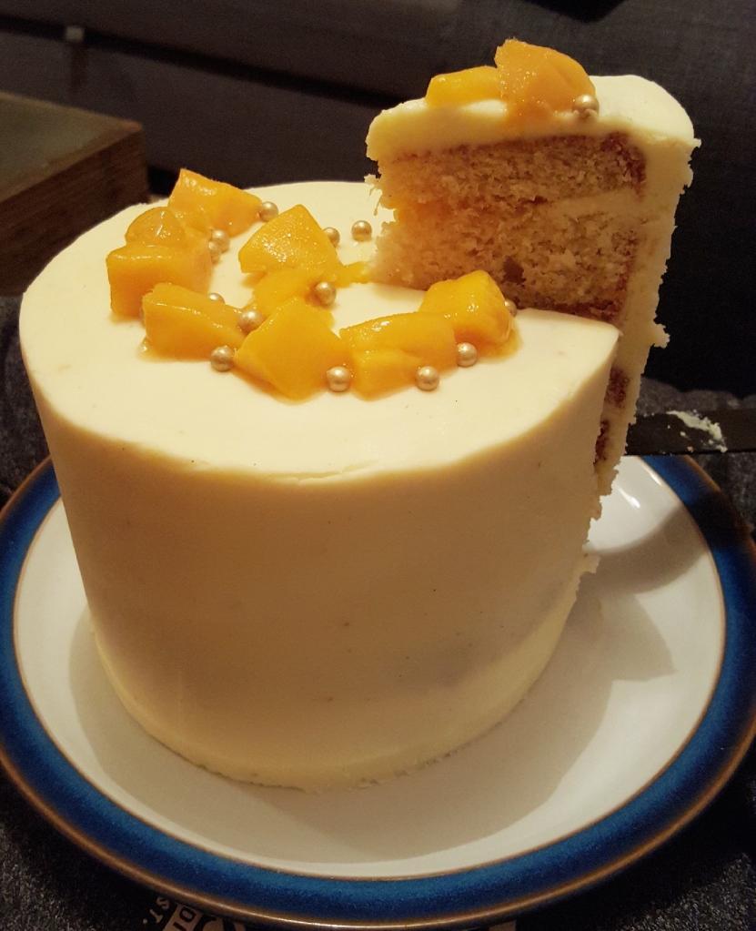 mango and passionfruit layer cake 3