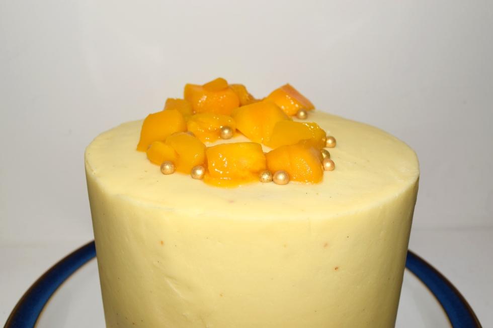mango and passionfruit layer cake