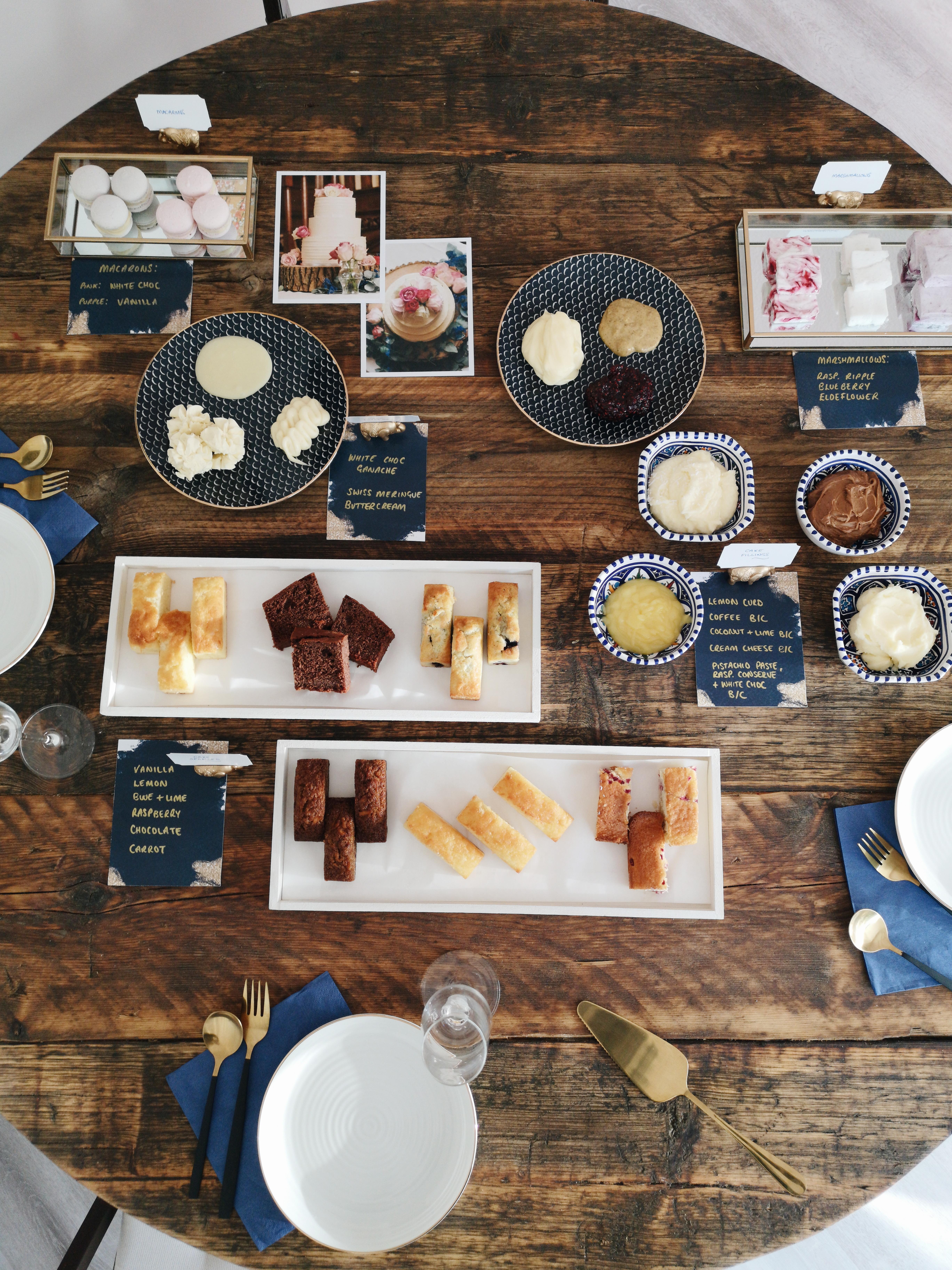 wedding cake tasting bitesize bakehouse